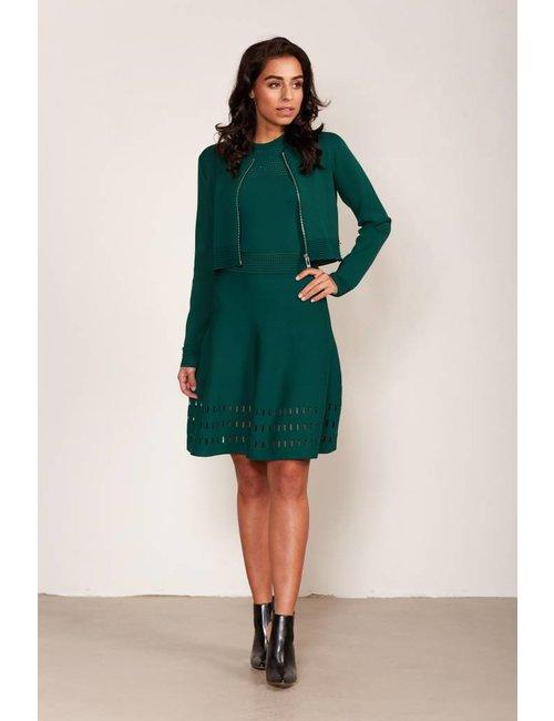 Jacky Luxury Jersey A-lijn jurk met cut-out details