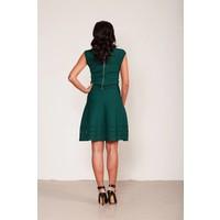 Jersey A-lijn jurk met cut-out details