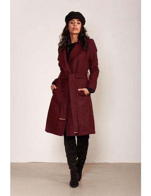 Jacky Luxury Lange jas met ceintuur