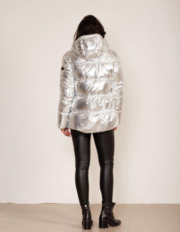 Donsjack in metallic