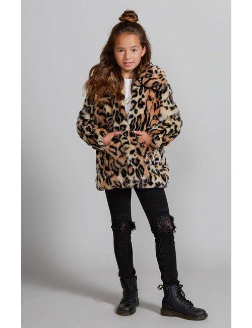 Jacky Girls Faux fur jas met luipaarddessin