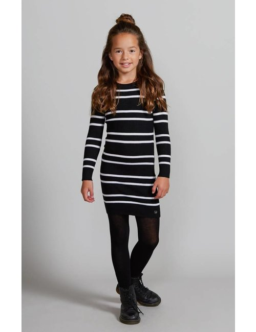 Jacky Girls Ribgebreide jurk met streepdessin