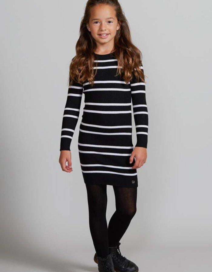 Ribgebreide jurk met streepdessin