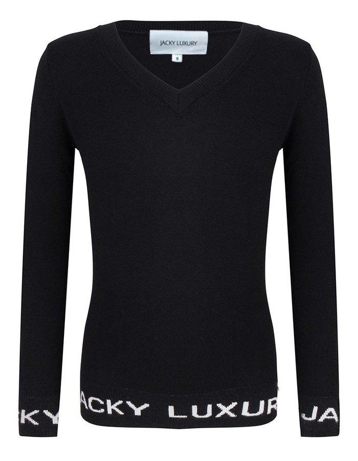 Pullover met Jacky Luxury detail