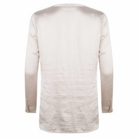 Satijnen blouse met V-hals