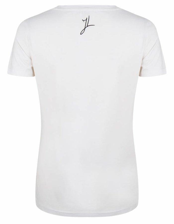 T-shirt met glitter logo
