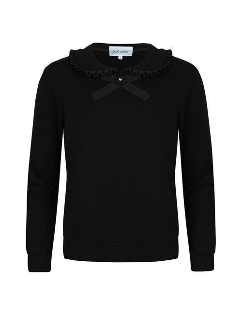 Sweater met strik en roezel detail