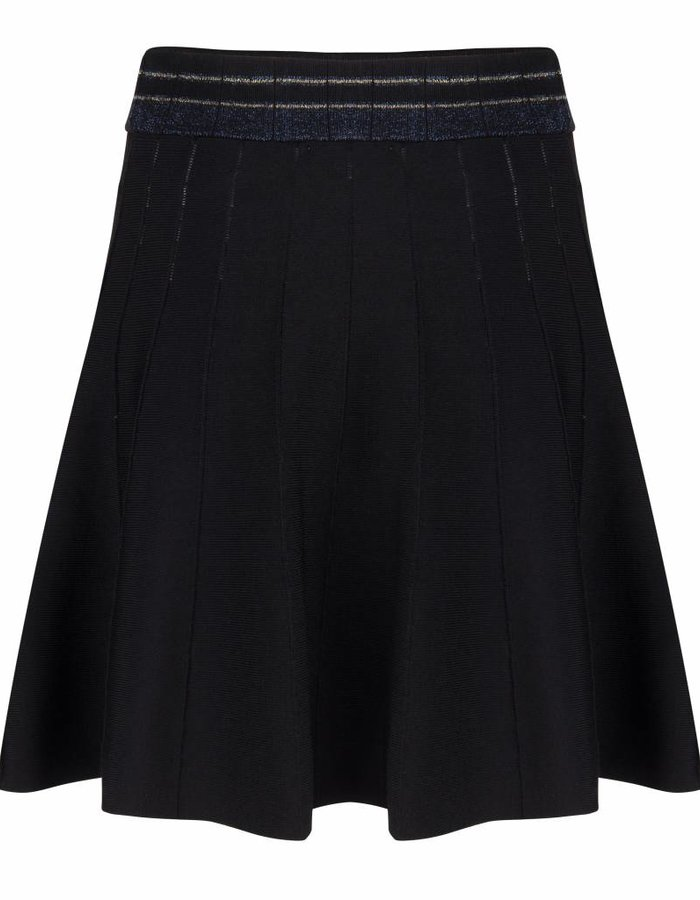 Klokkende rok met streepdetail