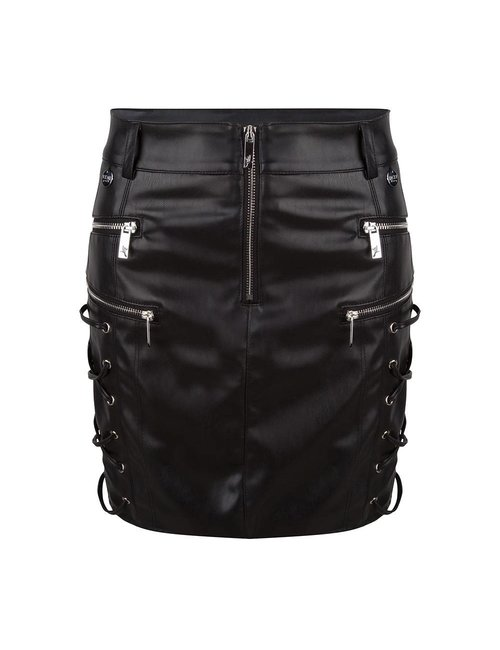 Jacky Luxury Imitatieleren mini rok