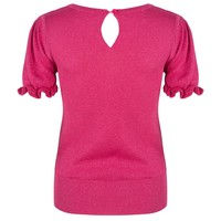 Lurex top met keyhole-detail