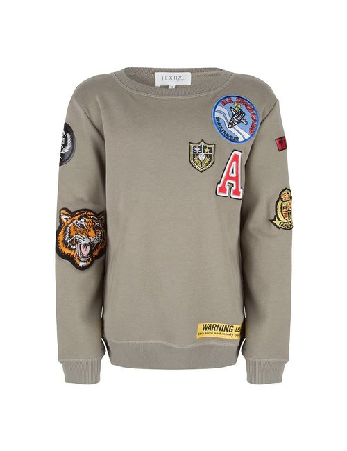 Jlxry Boys Sweater met badges