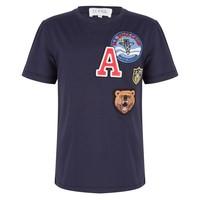 T-Shirt met badges