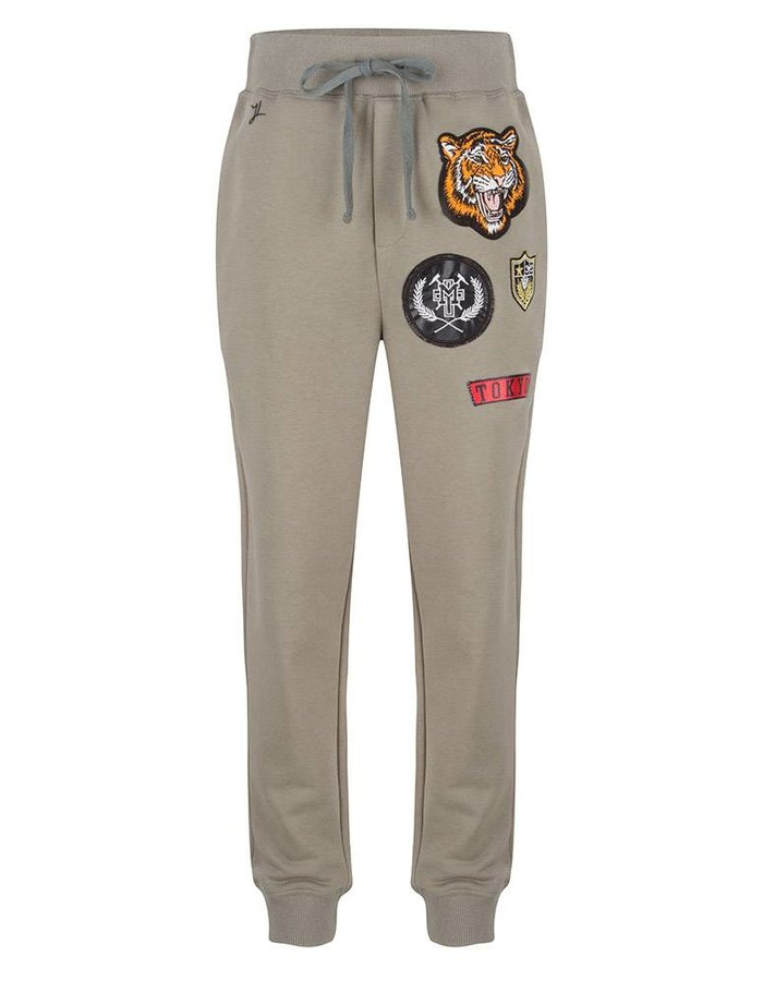 Joggingbroek met badges