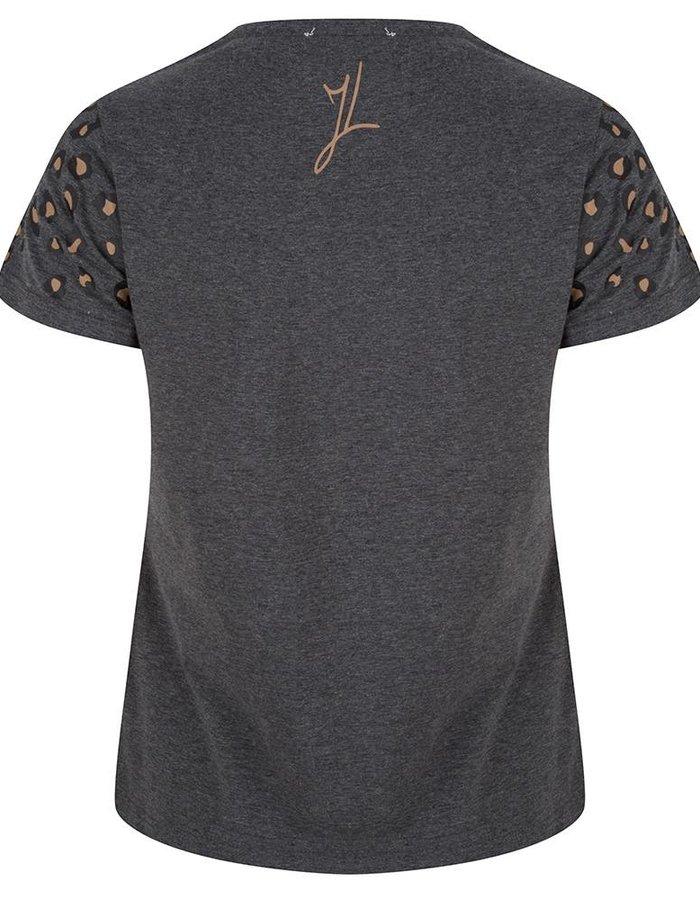 T-Shirt met leopard spots