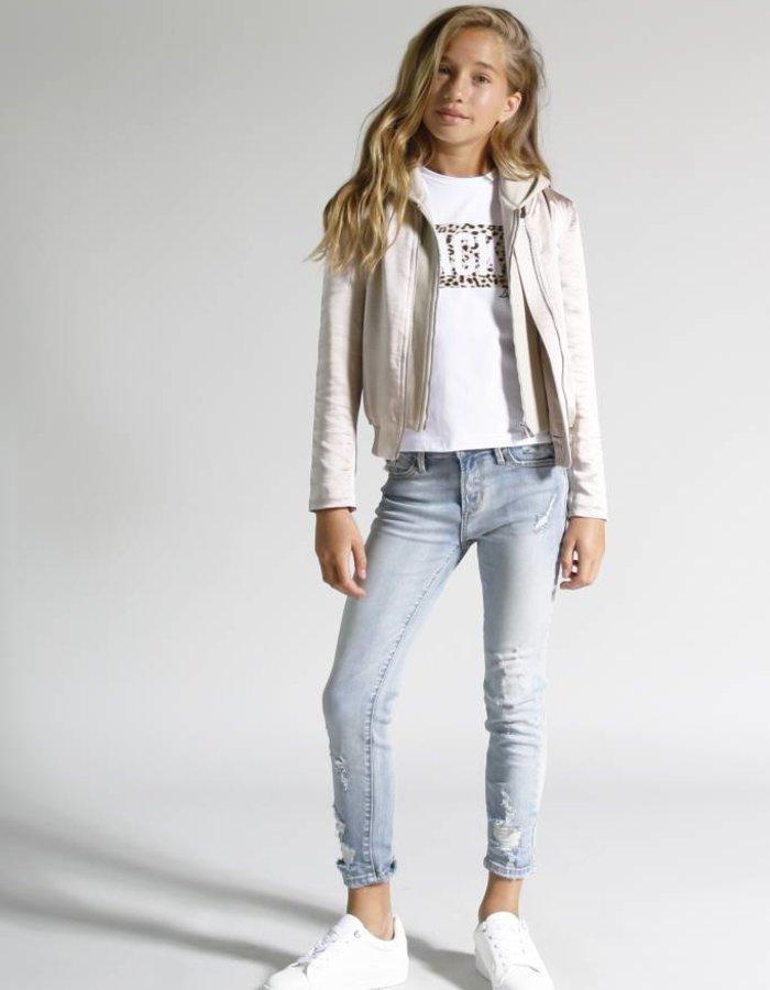 Jeans met damaged details