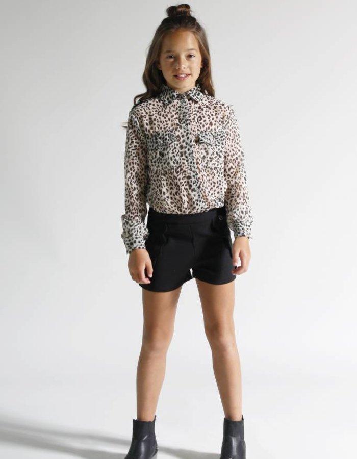 Basic blouse met print