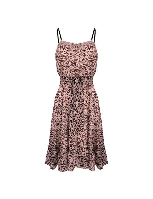 Jacky Luxury Leopard jurk met kant