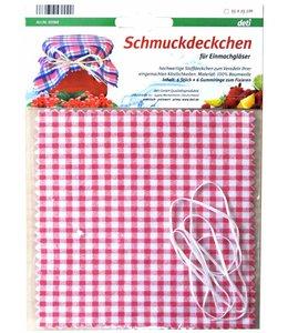 Kitchen Basics  Geblokte afdekdoekjes voor potjes