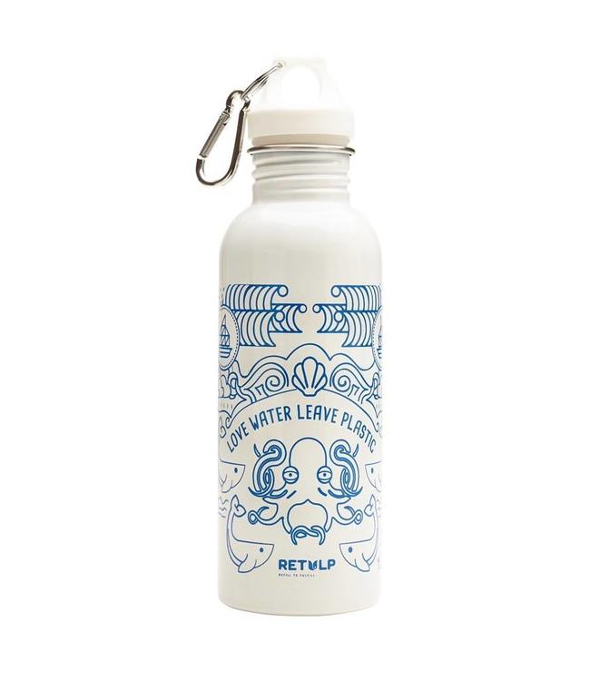 Retulp RVS drinkfles 'white ocean' 750 ml (-10%)