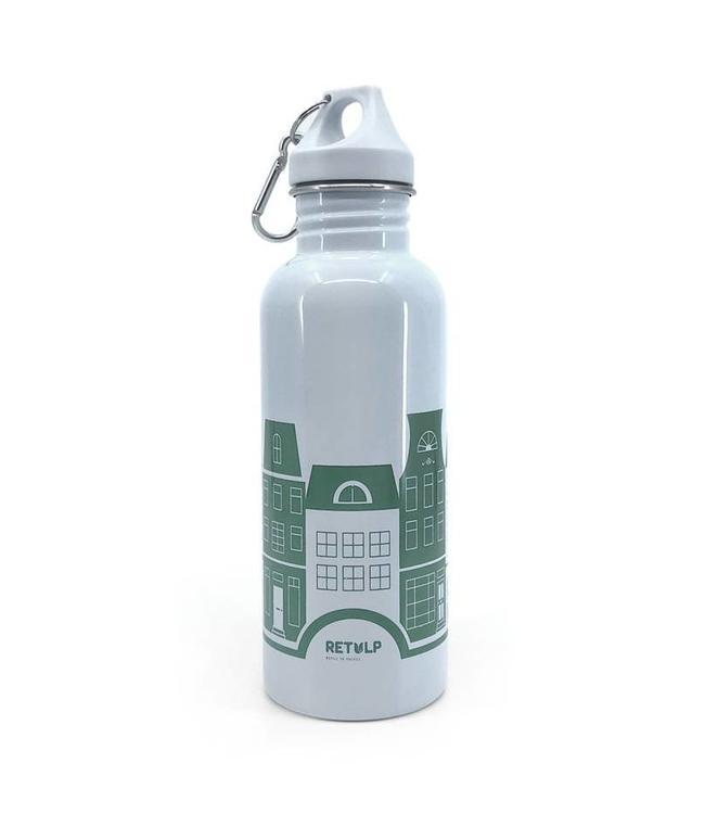 Retulp RVS drinkfles 'grey canal houses'  750 ml   - Copy