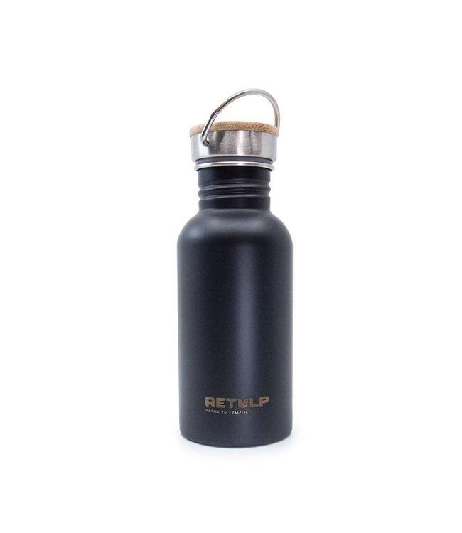 Retulp Zwart RVS drinkflesje 500 ml
