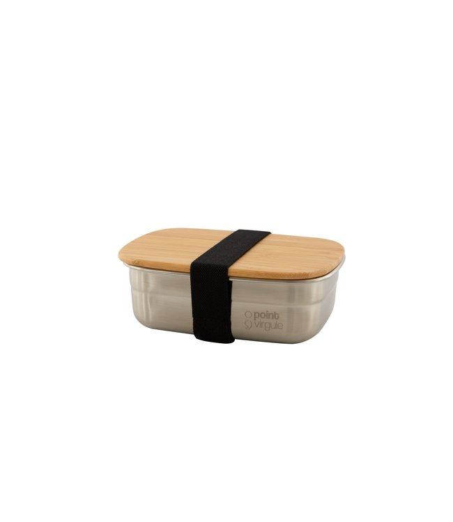 Point Virgule Kleine lunchtrommel met bamboe deksel 450 ml