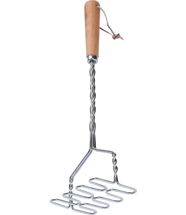 Kitchen Basics  RVS aardappelstamper met houten steel