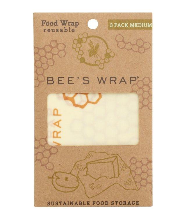 Beeswrap Bijenwasdoek medium 3-pack
