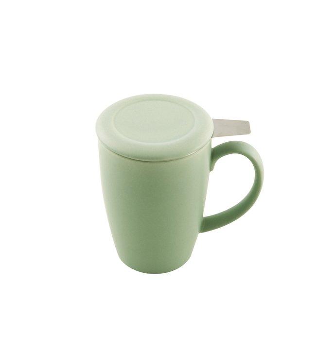 Point Virgule Saliegroene mok met thee-infuser 400 ml