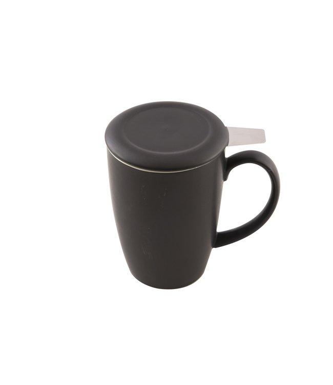 Point Virgule Zwarte mok met thee-infuser 400 ml