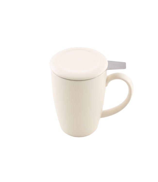 Point Virgule Witte mok met thee-infuser 400 ml