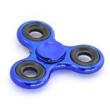 Fidget Hand Spinner Metallic blauw