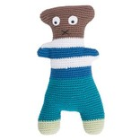 Sebra Gehaakte knuffel Crazy Teddy Blue-Brown