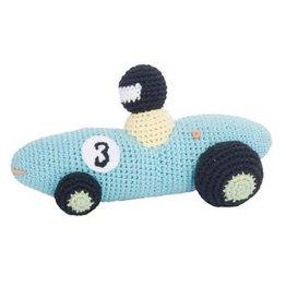 Sebra Gehaakte Racewagen Aqua
