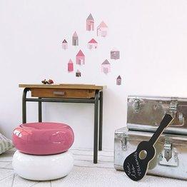Lilipinso Muurdecoratie Las Casitas roze