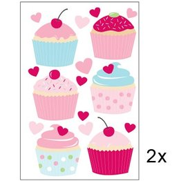 Speckled House Muurstickers Cupcakes
