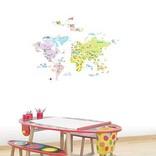 Decowall Muurstickers Wereldkaart