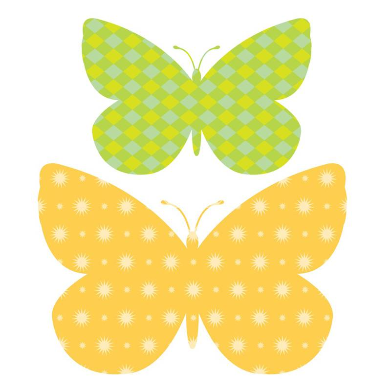Decowall Muurstickers Schattige vlinders
