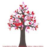 Studio Poppy Behangboom Uil rood 001 A (stam verkrijgbaar in diverse kleuren)