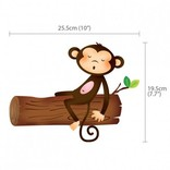 Decowall Muursticker boom met 5 kleine aapjes