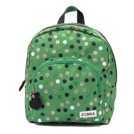 Zebra Trends kinderrugzak Girls Wild Dots Green