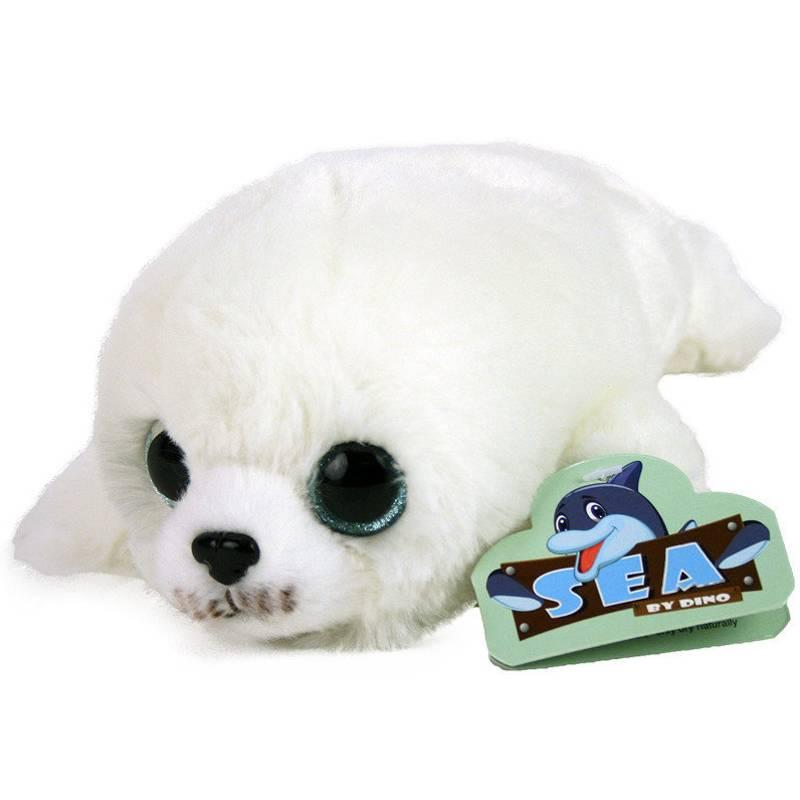 Dinotoys Knuffel zeehondje met glitterogen - 22 cm