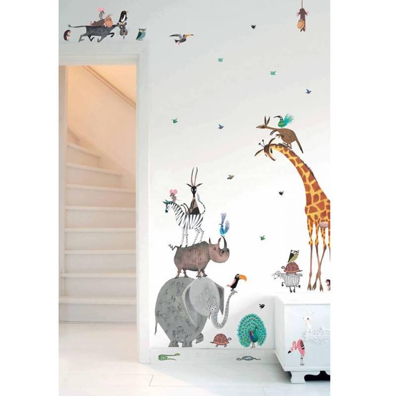 KEK Amsterdam Muursticker set Animals XL Fiep Westendorp (97 x 180 cm)