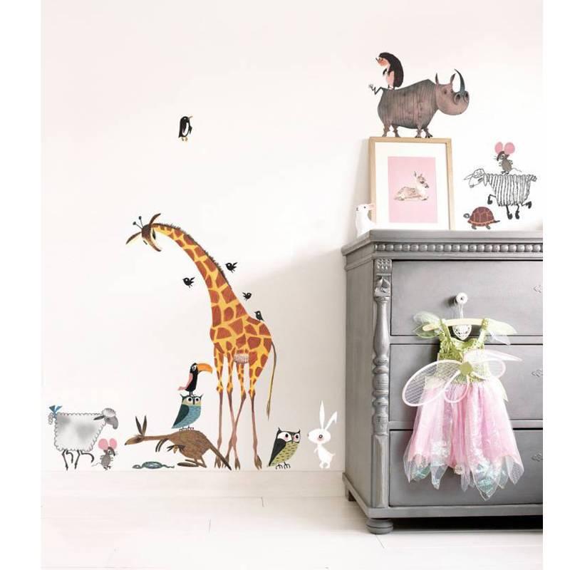 KEK Amsterdam Muursticker set Animals Giraf XL Fiep Westendorp (85 x 119 cm)