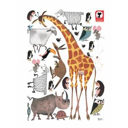 KEK Amsterdam Muursticker set Animals Giraf XL Fiep Westendorp (85 x 119 cm)