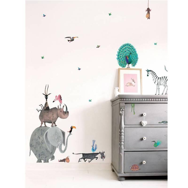 KEK Amsterdam Muursticker set Animals Olifant XL Fiep Westendorp (85 x 119 cm)