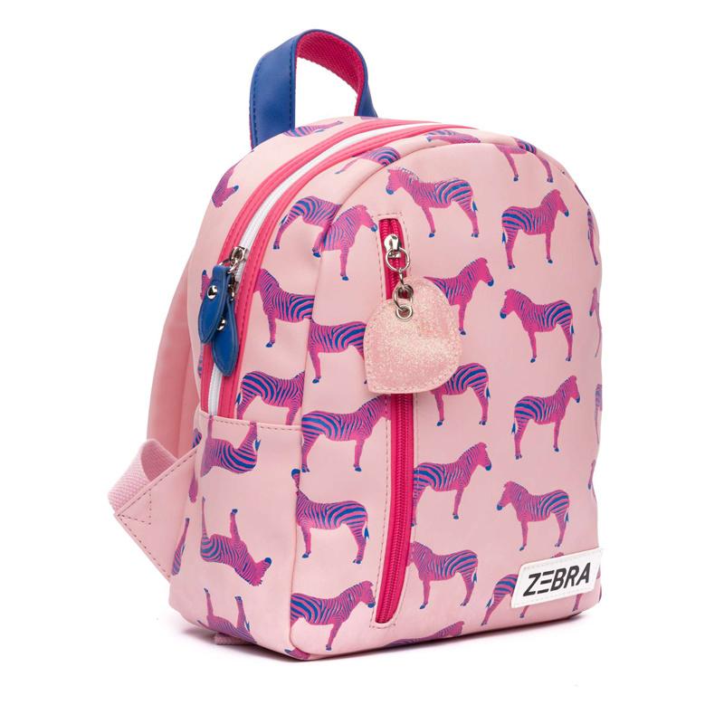 Zebra Trends Kinderrugzak Zebra Pink (S)