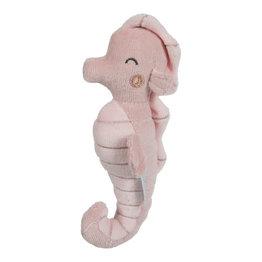 Little Dutch Knuffel rammelaar Zeepaardje roze