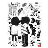 KEK Amsterdam Muursticker Jip en Janneke kiss XL (90 x 120 cm)