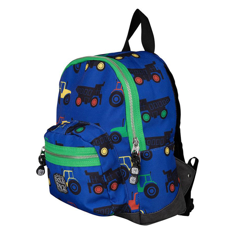 Pick & Pack Kinderrugzak Tractor Blauw groene rits